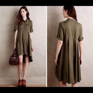 Anthro Holding Horses Military Swing Shirtdress
